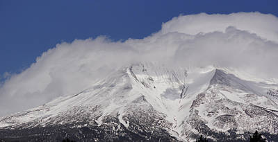 Mt. Massive Photograph - Chill Winds Across Shasta's Peak by Mick Anderson