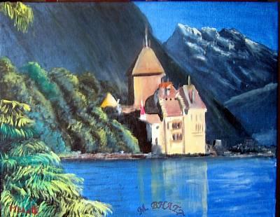 Chillon Castle Art Print by M Bhatt