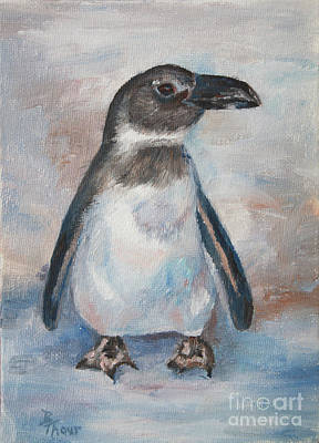 Painting - Chilly Little Penguin by Brenda Thour
