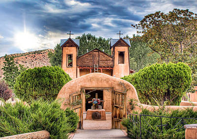 Chimayo Church Art Print by Anna Rumiantseva