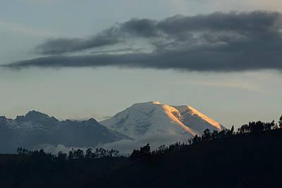 Chimborazo Mountain At Sunset. Republic Of Ecuador. Art Print by Eric Bauer