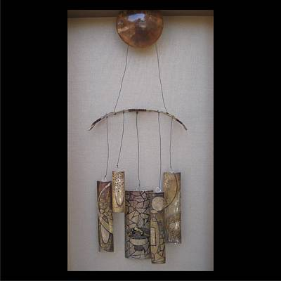 Mixed Media - Chimes Closeup by Brenda Berdnik