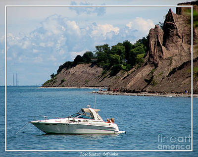 Chimney Bluffs On Lake Ontario Art Print by Rose Santuci-Sofranko