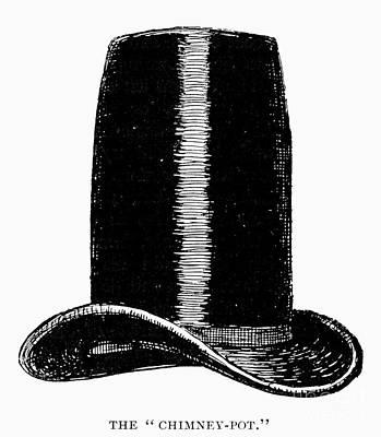 Chimney-pot Hat, C1850 Art Print