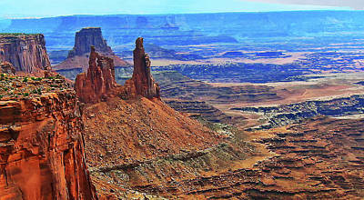 Digital Art - Chimney Rocks Of Canyonlands Np Utah by Gary Baird