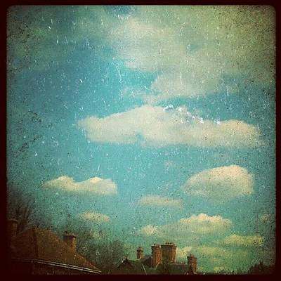 Victorian Wall Art - Photograph - #chimneys And #clouds .... #victorian by Alexandra Cook