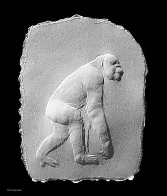 Chimp Art Print by Suhas Tavkar
