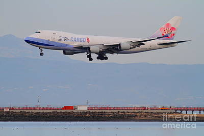 China Airlines Cargo Jet Airplane At San Francisco International Airport Sfo . 7d12299 Print by Wingsdomain Art and Photography