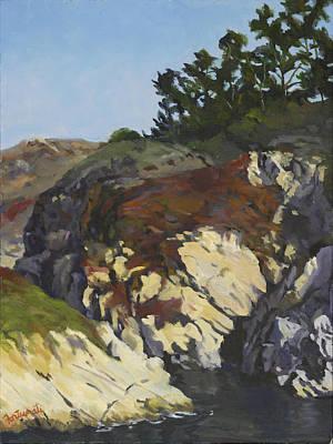 China Cove Cliffs Art Print by Marian Fortunati