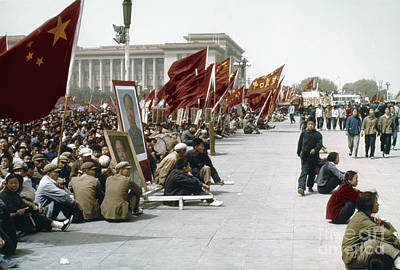 Sit-ins Photograph - China: Cultural Revolution by Granger
