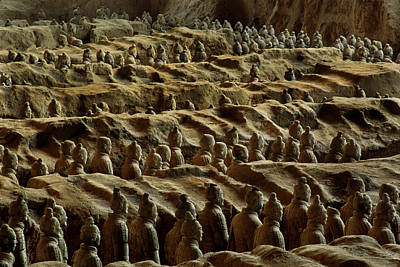 Chinas Great Terracotta Army Is Seen Art Print by O. Louis Mazzatenta