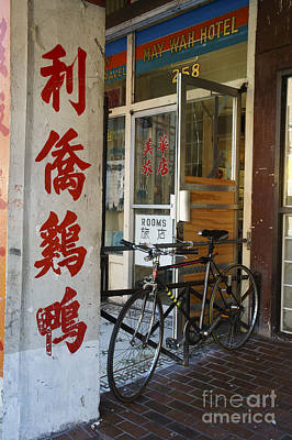 Photograph - Chinatown Bicycle Vancouver by John  Mitchell