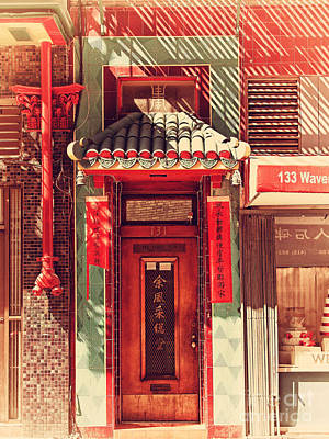 Photograph - Chinatown Door . 7d7406 by Wingsdomain Art and Photography