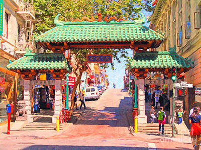 Photograph - Chinatown Gate In San Francisco by Wingsdomain Art and Photography