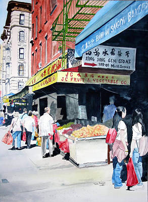 Art Print featuring the painting Chinatown Number One by Tom Riggs