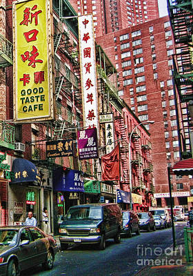 Chinatown Nyc 2 Art Print by Anne Ferguson