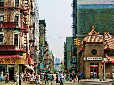 Chinatown-nyc Art Print by Anne Ferguson