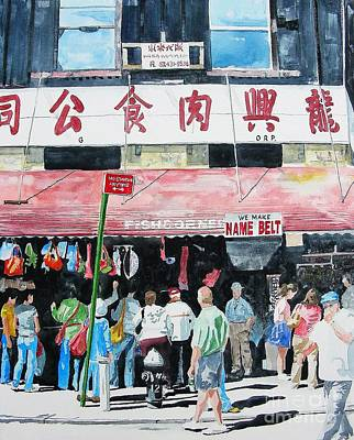 Art Print featuring the painting Chinatown Two by Tom Riggs