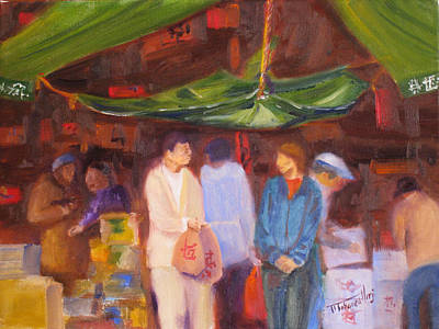 Chinese Market Painting - Chinatown  Vancouver by Mohamed Hirji