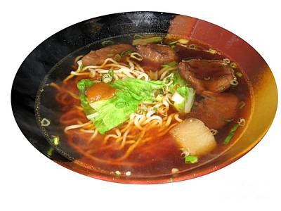 Chinese Beef Noodle Soup Art Print by Yali Shi
