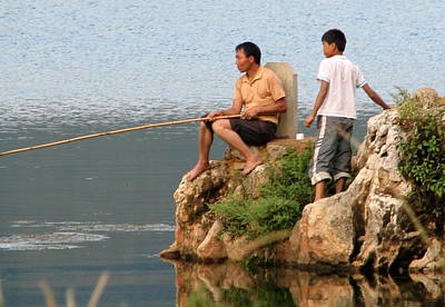 Photograph - Chinese Fishermen by Carla Parris