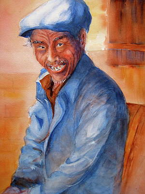 Chinese Peasant Painting - Chinese Gentleman by Myra Evans
