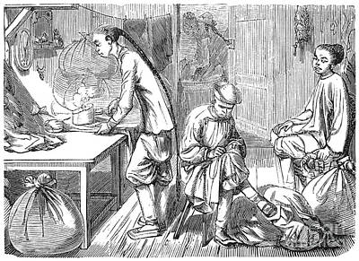 Chinese Immigrants, 1855 Print by Granger