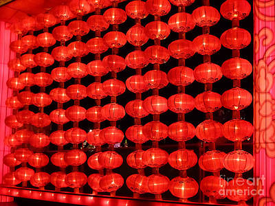 Photograph - Chinese Lanterns 2 by Xueling Zou