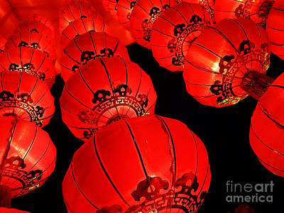 Photograph - Chinese Lanterns 3 by Xueling Zou