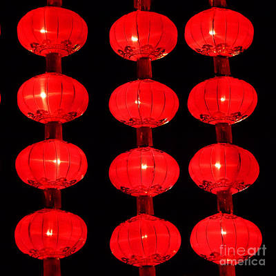 Photograph - Chinese Lanterns 5 by Xueling Zou