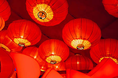 Chinese Lanterns Art Print by Eastphoto