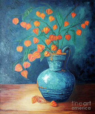 Chinese Lanterns Painting - Chinese Lanterns by Enzie Shahmiri