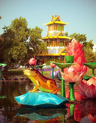 Lantern Digital Art - Chinese Lanterns by Sonja Quintero