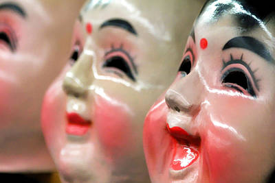 Chinese Masks Art Print by Brian Davis