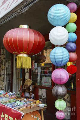 Photograph - Chinese Paper Lanterns Vancouver Chinatown by John  Mitchell