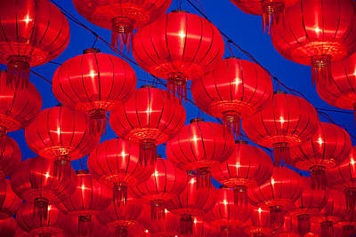 Chinese Red Lanterns Art Print by Pan Hong
