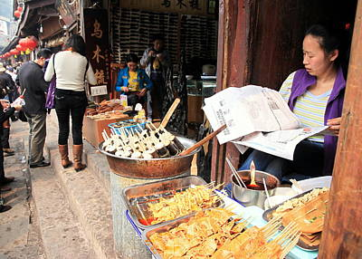 Photograph - Chinese Street Food Vendor by Valentino Visentini