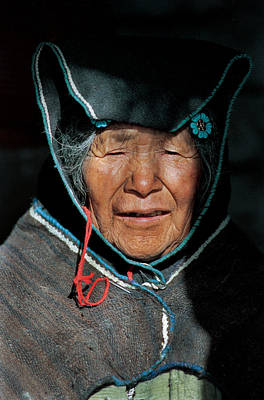 South America Photograph - Chipaya Culture Grandmother. Department Of Oruro. Republic Of Bolivia. by Eric Bauer