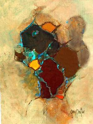 Painting - Chipmonk Abstract by Gary Partin