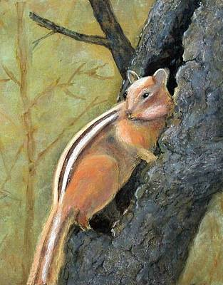 Painting - Chipmonk by Gary Partin