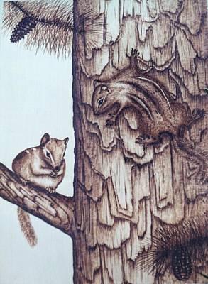 Chippy Love Art Print by Susan Rice