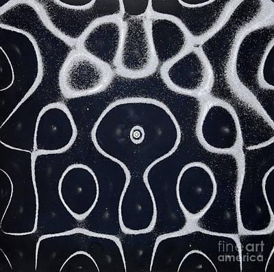 Chladni Oscillations On Metal Plate Art Print