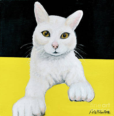 Painting - Chloe The Polydactyl  by Ania M Milo