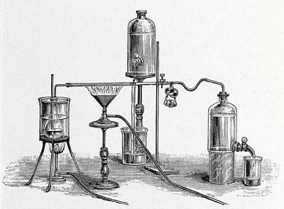 Chloroform Analysis, 19th Century Artwork Art Print by Middle Temple Library