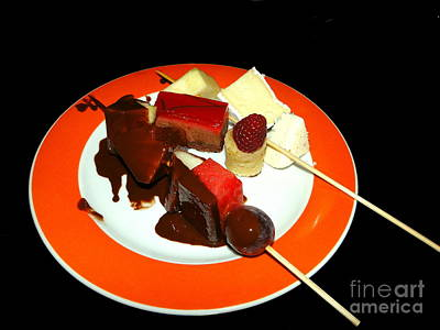 Photograph - Chocolate And Cheese On A Plate by Sue Melvin