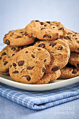 Tasty Photograph - Chocolate Chip Cookies by Elena Elisseeva