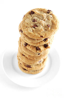 Junkfood Photograph - Chocolate Chip Cookies by HD Connelly