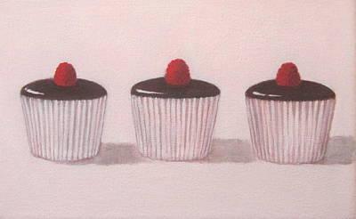 Chocolate Cupcakes  Art Print by Kazumi Whitemoon