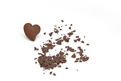 Grate Photograph - Chocolate Heart by Joana Kruse