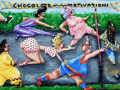 Painting - Chocolate Motivation by Alison  Galvan